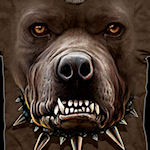 Zombie Pitbull Face T-Shirt
